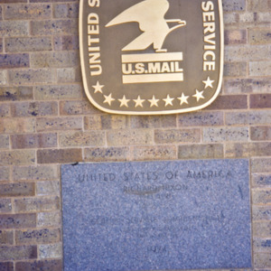 Post Office Plaque, 1974