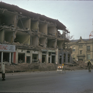 Bivouac Building Demolition, 000-Block East Washington Street, 1975