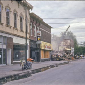 100-Block South Clinton Street, The Vine, All Sports, Inc, and Building Debris, 1974