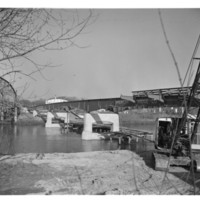 Building a Bridge over the Iowa River, 1950s