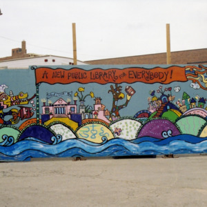 """""""A New Public Library for Everybody"""" Wide View, ICPL Construction Wall Panel, 2002"""