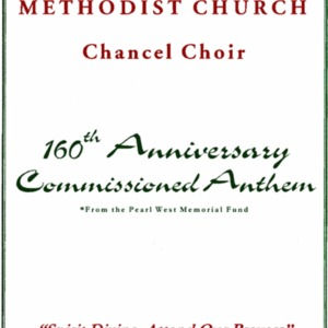 First United Methodist Church 160th Anniversary Commissioned Anthem