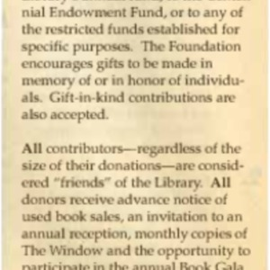 1995 Friends Foundation Seeks Contributions