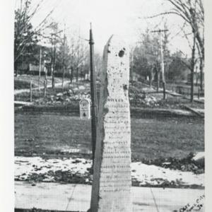 Corner Stone Monument on Summit Street, Iowa City, Iowa
