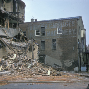 Building Demolition, 000-Block East Washington Street, 1975