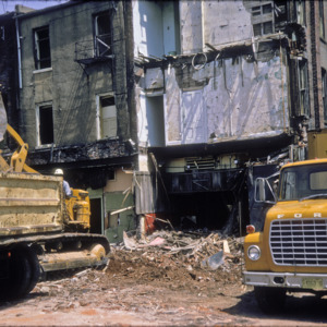 Behind View of Building Debris, 100-Block South Clinton Street, 1970-1976