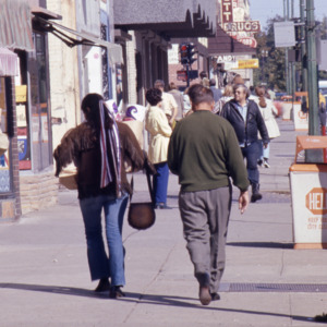 Sidewalk, South Dubuque Street, 1970s