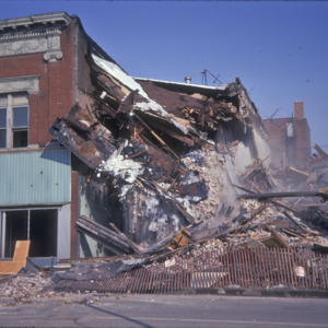 Building Demolition, 200-Block East College Street, 1975