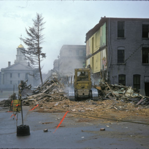 Behind View of Building Remains, 000-Block East Washington Street, 1975