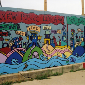 """""""A New Public Library"""" ICPL Construction Wall Panel, 2002"""