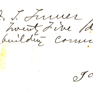 1869 Receipt for building cornice at First Presbyterian Church of Iowa City