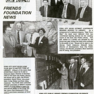 1993 April Friends Foundation News