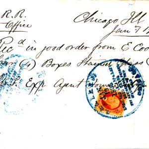 1865 Receipt for stained glass