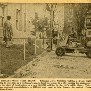 Newspaper Clipping on Library Construction, 1962