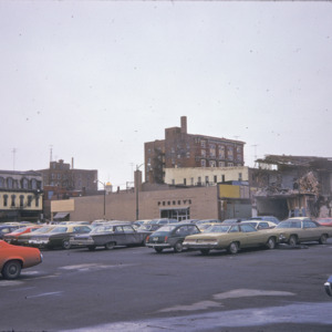 East College Street, Penney's Parking Lot and Building Wreckage, 1970-1976