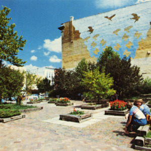 Black Hawk Pedestrian Park and Mural, Iowa City