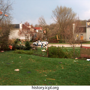 Pink insulation near Woodridge Avenue