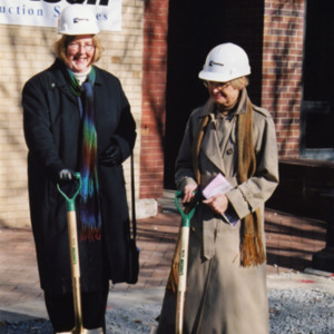 Library Director and Former Library Director at ICPL Groundbreaking, 2002