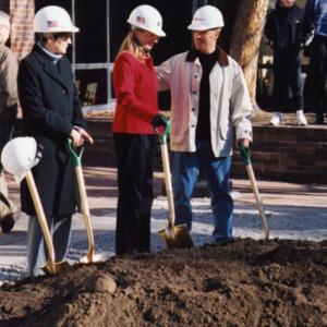 ICPL Board Members Breaking Ground, 2002