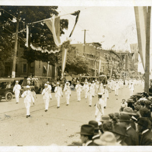 Parade on Washington Street, Iowa City, Iowa