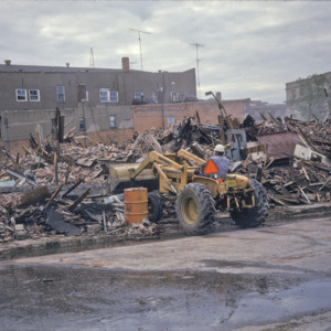 Building Remains, 000-Block East Washington Street, 1970-1976