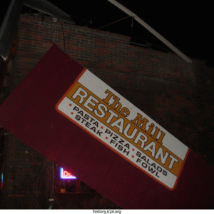 The Mill Restaurant Sign