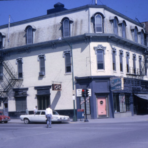 Odd Fellows Building, College and Dubuque Streets, 1965