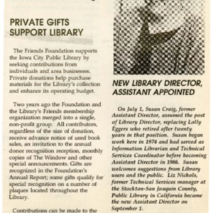 1994 Private Gifts Support Library