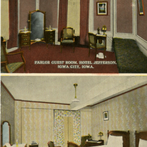 Parlor Guest Room, Hotel Jefferson, Iowa City, Iowa