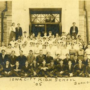 Iowa City High School Sophomores,  1905