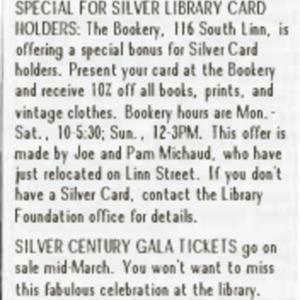 1988 March Foundation News