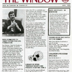 1988 June Friends and Foundation News