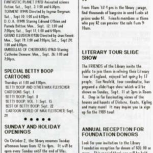 1988 September Foundation Update