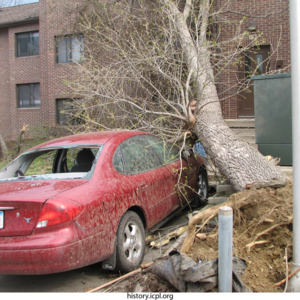 Damaged Car and Apartment