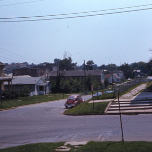 Court and Linn Streets during Urban Renewal, 1972