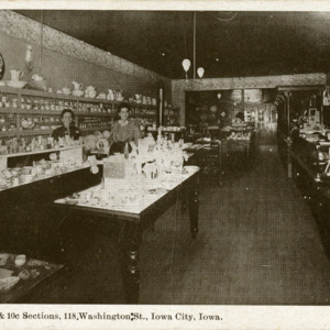 Wallick's 5 Cent & 10 Cent Sections, 118 Washington Street, Iowa City, Iowa