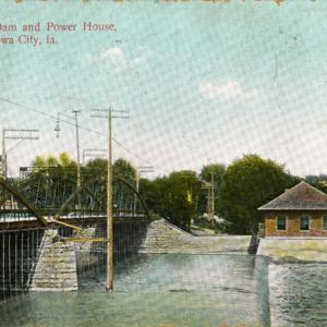 Iowa River Dam and Power House, Iowa City, undated