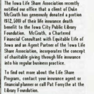 1988 November ICPL Foundation Update