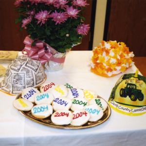 Cookies at ICPL Groundbreaking, 2002