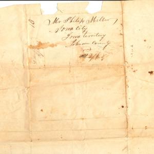 Address for letter to Philip Miller