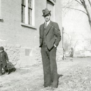 Man near school,  undated