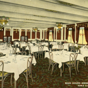 Main Dining Room, Hotel Jefferson, Iowa City, Iowa