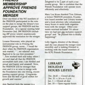 1992 Friends Membership Approve Friends Foundation Merger