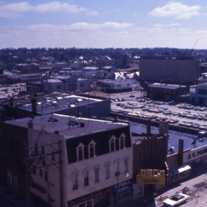 Aerial view of downtown Iowa City, 1972