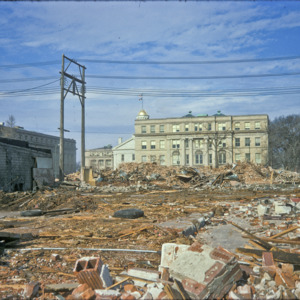 Building Debris at Washington Street, 1970-1976