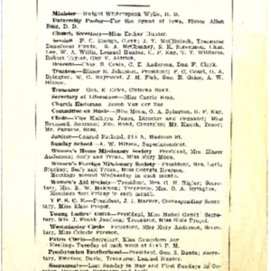 1915 Program for the Church's 75th anniversary service