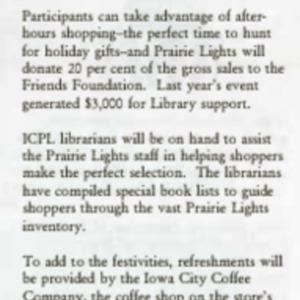 1995 Book Gala 95 Nov 12 at Prairie Lights