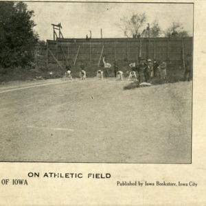 On Athletic Field, University of Iowa, undated