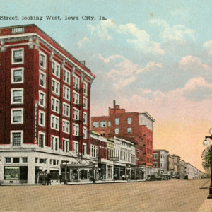 Washington Street, Looking West, Iowa City, Iowa