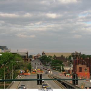 Burlington Street Bridge looking East